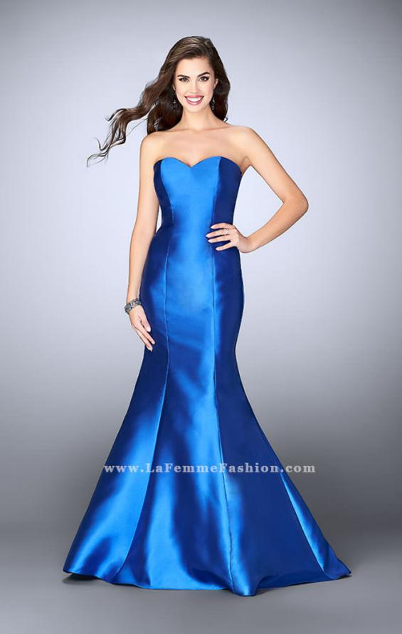 Picture of: Mikado Mermaid Dress with Sweetheart Neckline in Blue, Style: 23916, Detail Picture 3
