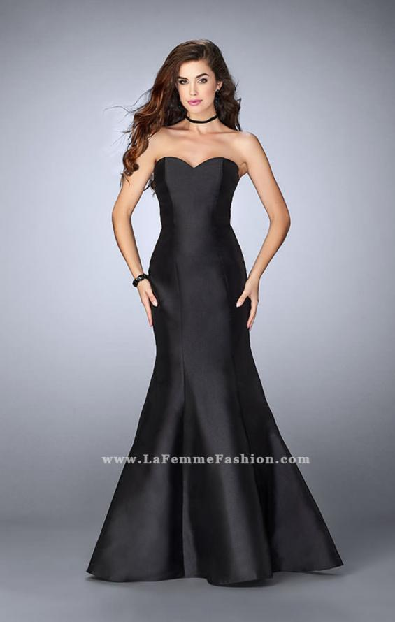 Picture of: Mikado Mermaid Dress with Sweetheart Neckline in Black, Style: 23916, Detail Picture 4