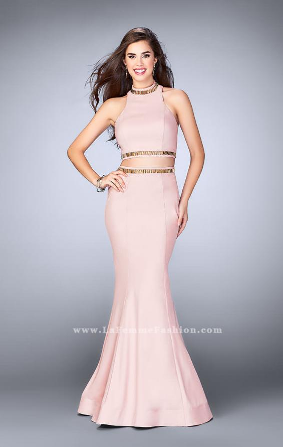 Picture of: Prom Dress with High Collar and Mermaid Skirt in Pink, Style: 23932, Detail Picture 2