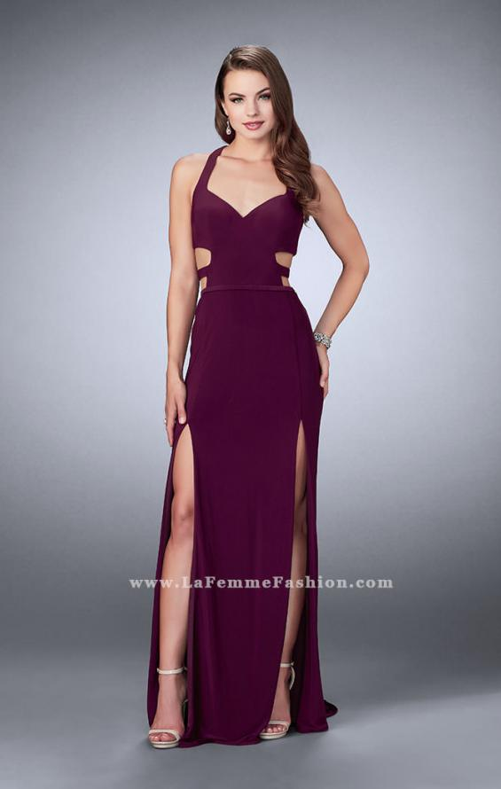 Picture of: Double Slit Jersey Dress with Cut Outs and Racer Back, Style: 23967, Main Picture