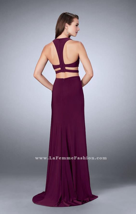 Picture of: Double Slit Jersey Dress with Cut Outs and Racer Back, Style: 23967, Back Picture