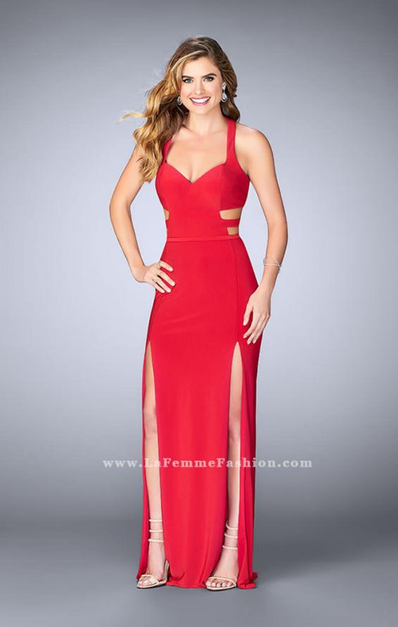 Picture of: Double Slit Jersey Dress with Cut Outs and Racer Back, Style: 23967, Detail Picture 1