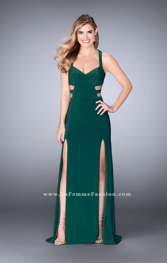 Picture of: Double Slit Jersey Dress with Cut Outs and Racer Back, Style: 23967, Detail Picture 2