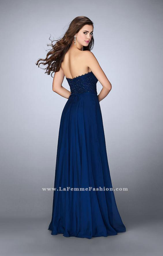 Picture of: Lace Scalloped Long Prom Dress with Pockets, Style: 23970, Back Picture