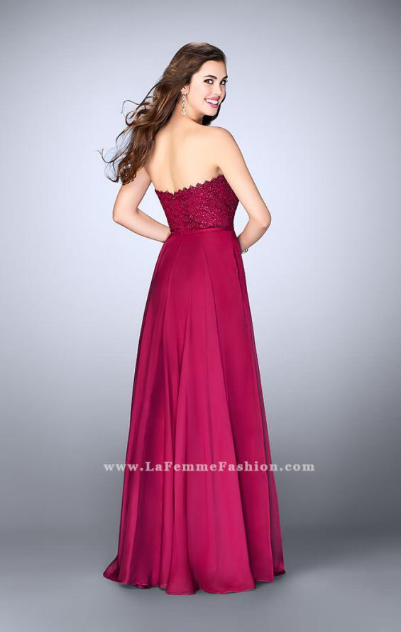 Picture of: Lace Scalloped Long Prom Dress with Pockets, Style: 23970, Detail Picture 3