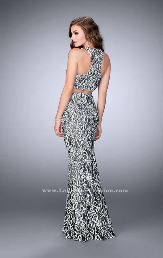 Picture of: Two Piece Multi-Colored Lace Dress with Racer Back, Style: 23976, Back Picture