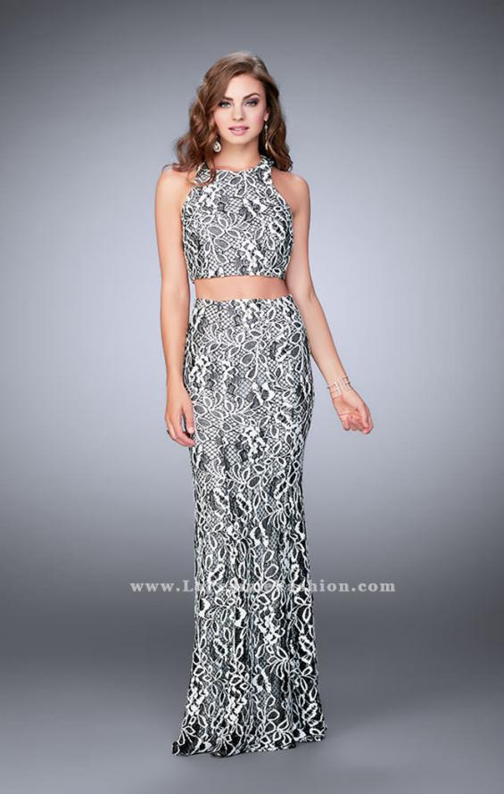 Picture of: Two Piece Multi-Colored Lace Dress with Racer Back, Style: 23976, Detail Picture 1