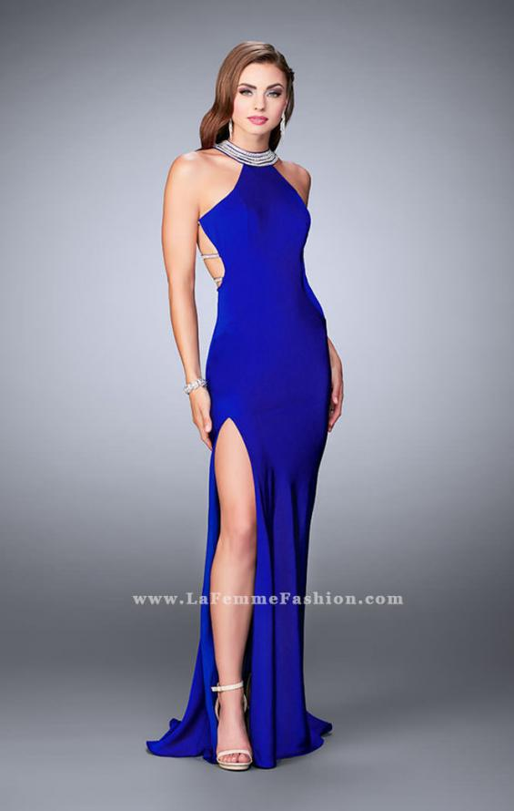 Picture of: High Neck Jersey Dress With Beading and Strappy Back, Style: 23982, Detail Picture 1
