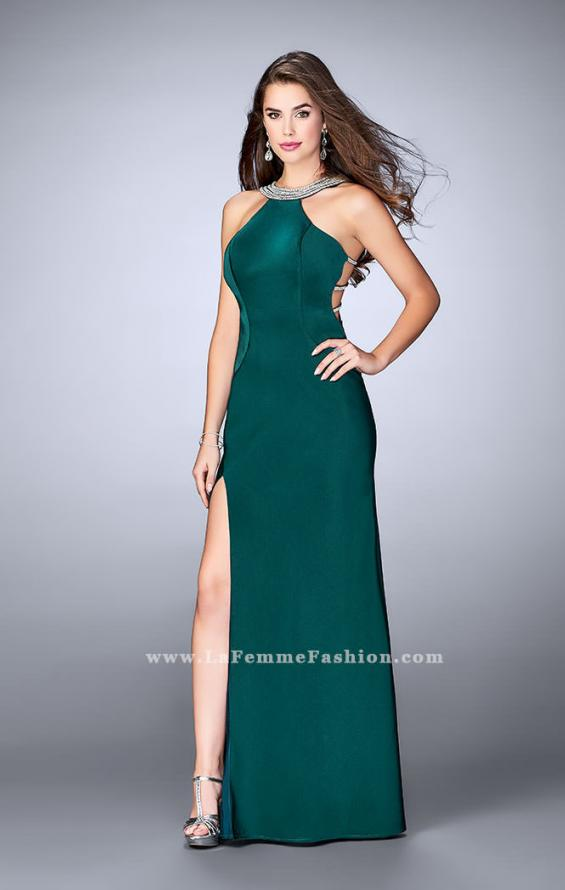 Picture of: High Neck Jersey Dress With Beading and Strappy Back, Style: 23982, Detail Picture 3