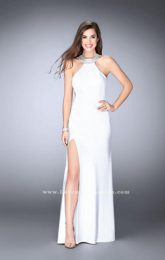 Picture of: High Neck Jersey Dress With Beading and Strappy Back, Style: 23982, Detail Picture 4