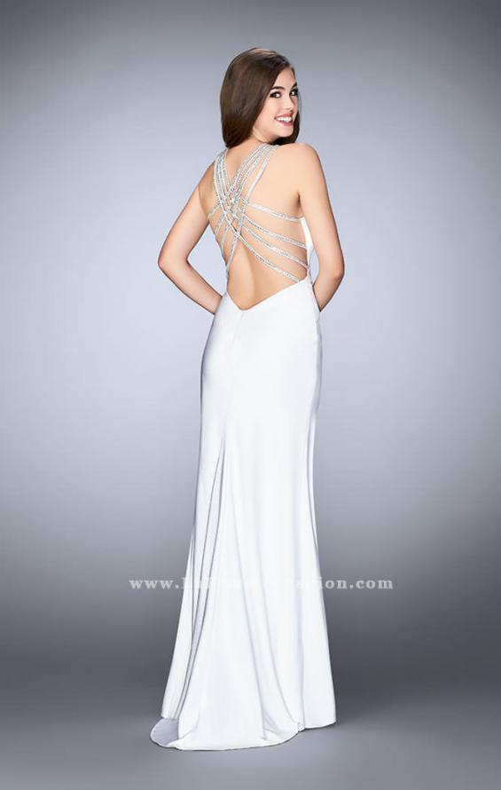 Picture of: High Neck Jersey Dress With Beading and Strappy Back, Style: 23982, Detail Picture 5
