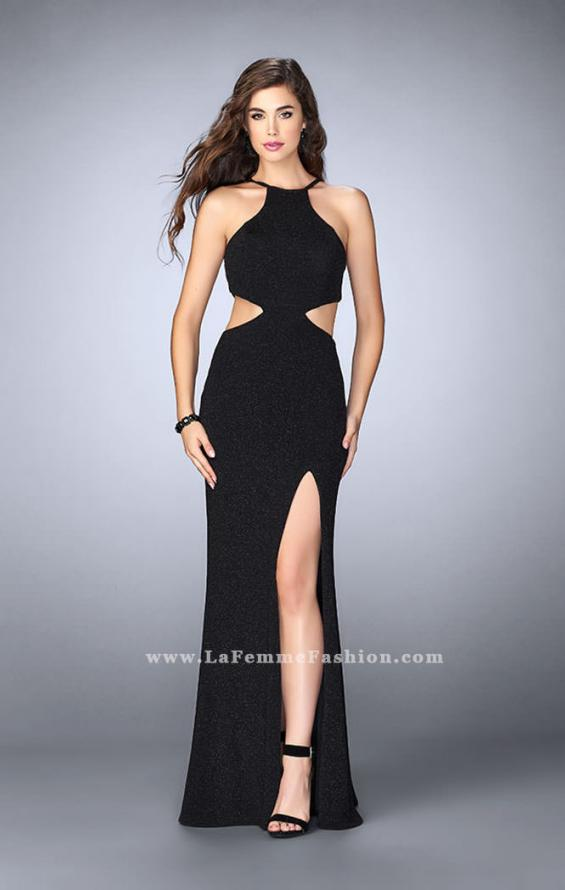 Picture of: Long Sparkly Jersey Prom Dress with Strappy Back, Style: 23992, Detail Picture 3