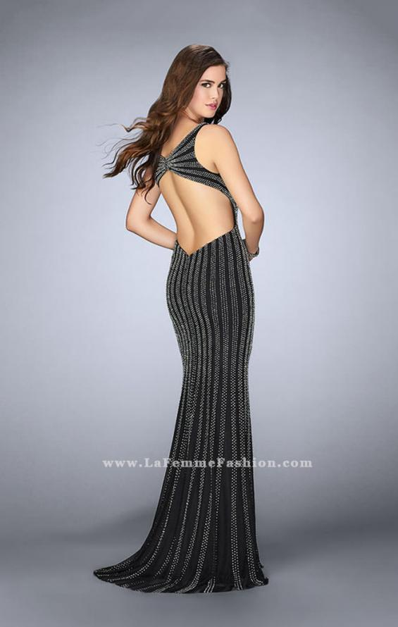 Picture of: Beaded Prom Dress With Deep V Neckline and Open Back, Style: 24057, Detail Picture 3