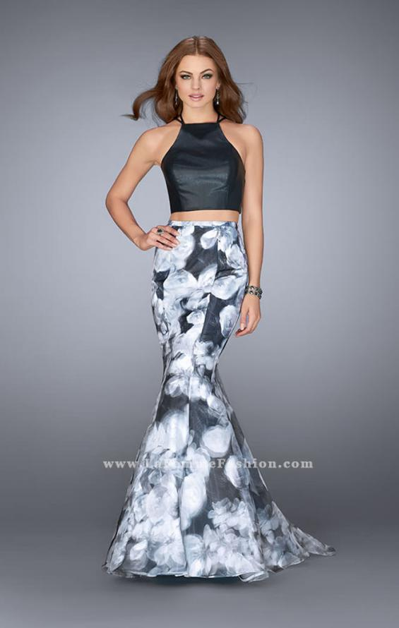 Picture of: Two Piece Mermaid Prom Dress with Printed Skirt in Print, Style: 24067, Main Picture