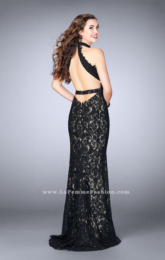 Picture of: Beaded Lace Prom Dress with Open Back, Style: 24089, Back Picture