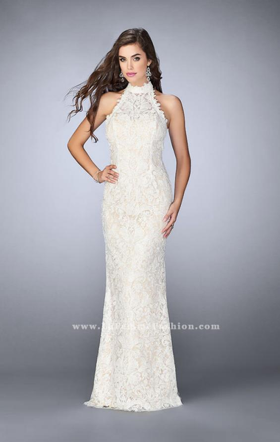 Picture of: Beaded Lace Prom Dress with Open Back, Style: 24089, Detail Picture 2