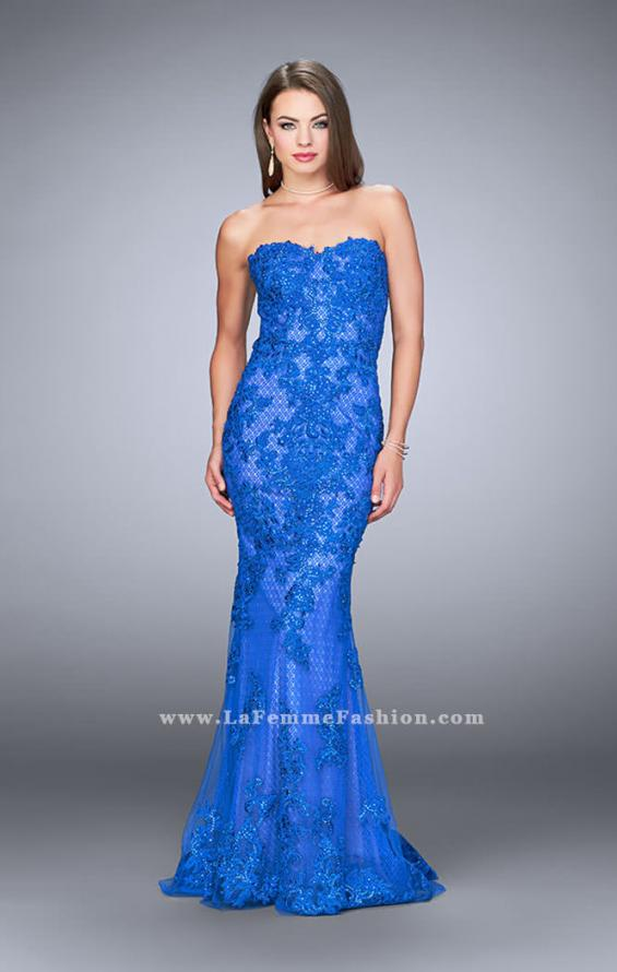 Picture of: Strapless Fitted Lace Dress with Sweetheart Neckline, Style: 24106, Main Picture