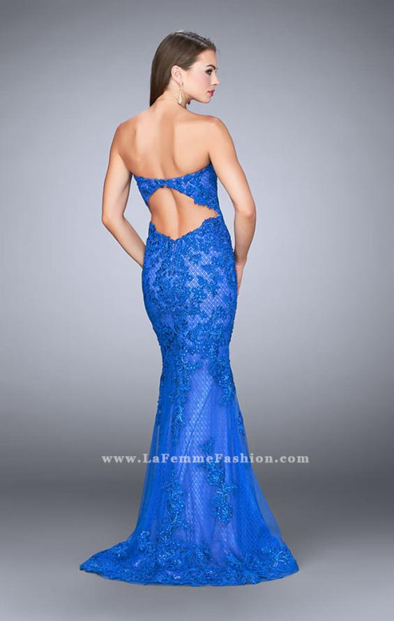 Picture of: Strapless Fitted Lace Dress with Sweetheart Neckline, Style: 24106, Back Picture
