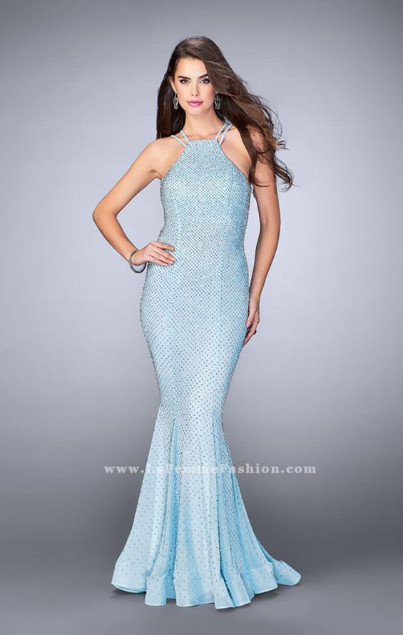 Picture of: Long High Neck Prom Dress with Open Back, Style: 24108, Main Picture