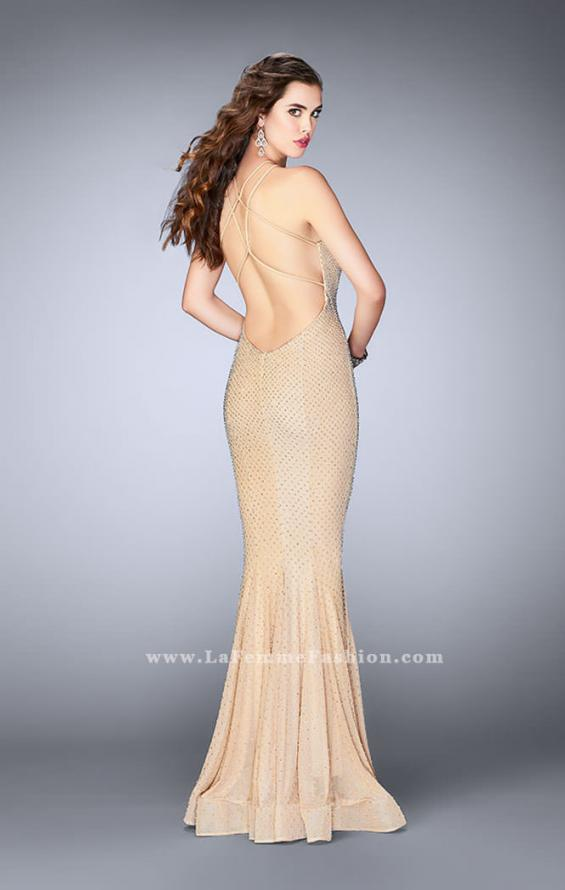 Picture of: Long High Neck Prom Dress with Open Back, Style: 24108, Back Picture