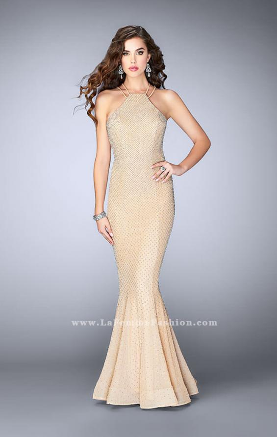 Picture of: Long High Neck Prom Dress with Open Back, Style: 24108, Detail Picture 1