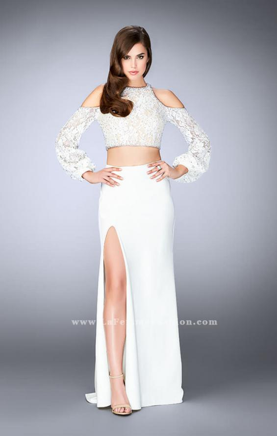 Picture of: Could Shoulder Long Sleeve Two Piece Prom Dress, Style: 24116, Detail Picture 1