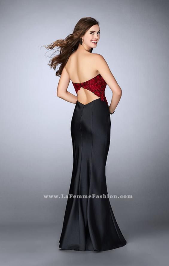 Picture of: Mikado Mermaid Dress with Lace Top and Open Back, Style: 24123, Back Picture