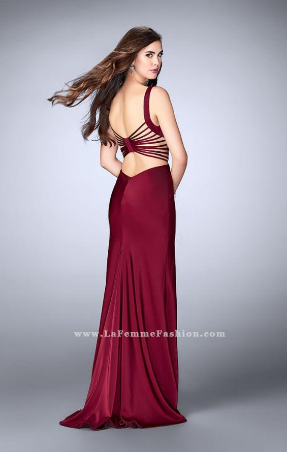 Picture of: Long Prom Gown with Strappy Side Cut Outs in Red, Style: 24155, Main Picture