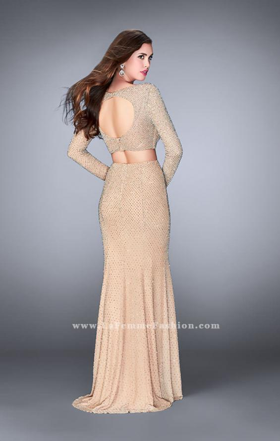 Picture of: Long Sleeve Two Piece Dress with Cold Shoulders, Style: 24175, Back Picture