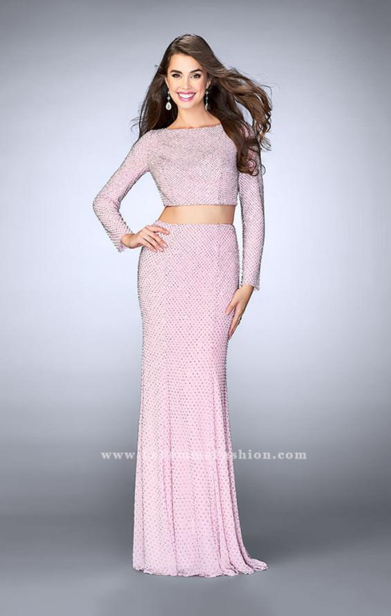 Picture of: Long Sleeve Two Piece Dress with Cold Shoulders, Style: 24175, Detail Picture 1