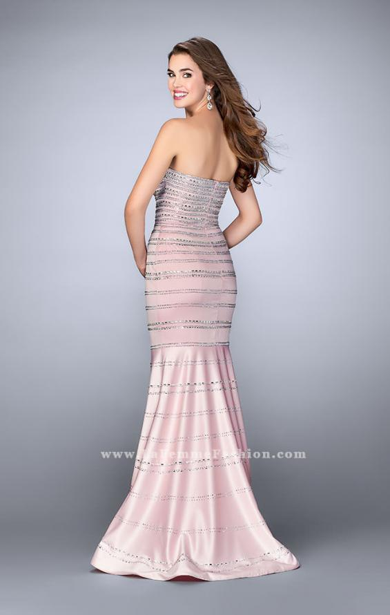 Picture of: Beaded Satin Mermaid Dress with Sweetheart Neckline, Style: 24180, Back Picture
