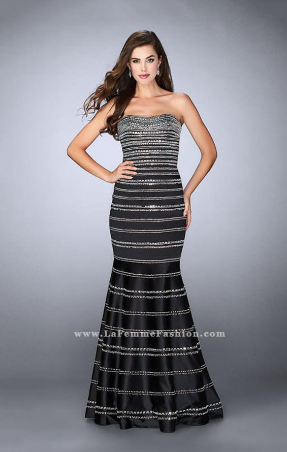 Picture of: Beaded Satin Mermaid Dress with Sweetheart Neckline, Style: 24180, Detail Picture 1