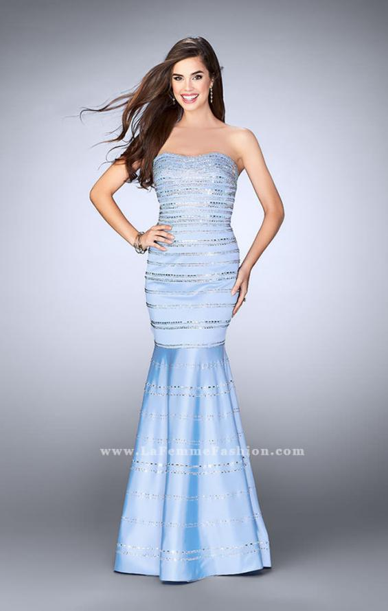 Picture of: Beaded Satin Mermaid Dress with Sweetheart Neckline, Style: 24180, Detail Picture 2