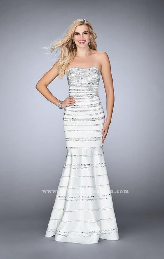 Picture of: Beaded Satin Mermaid Dress with Sweetheart Neckline, Style: 24180, Detail Picture 3