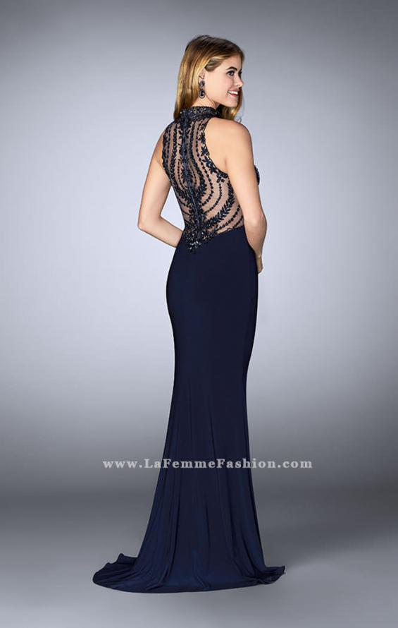 Picture of: Embroidered Prom Gown with High Neck and Side Slit, Style: 24194, Back Picture