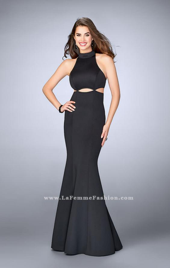Picture of: High Neck Neoprene Prom Dress with Cutouts, Style: 24217, Main Picture