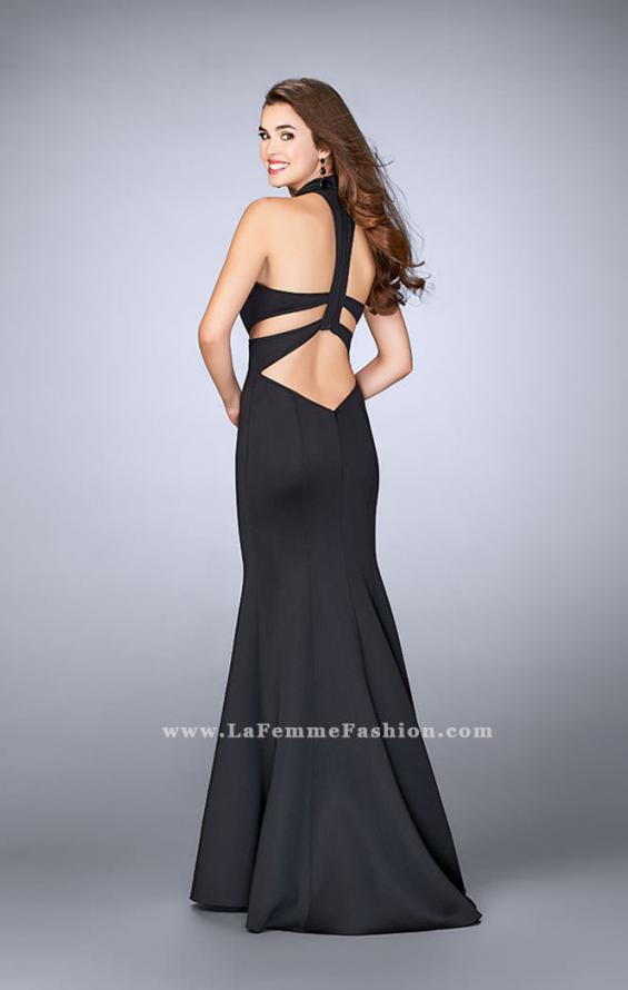 Picture of: High Neck Neoprene Prom Dress with Cutouts, Style: 24217, Back Picture