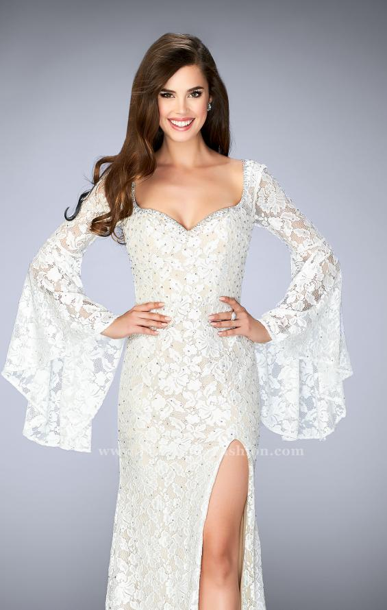 Picture of: Lace Bell Sleeve Dress with Sweetheart Neckline, Style: 24249, Main Picture