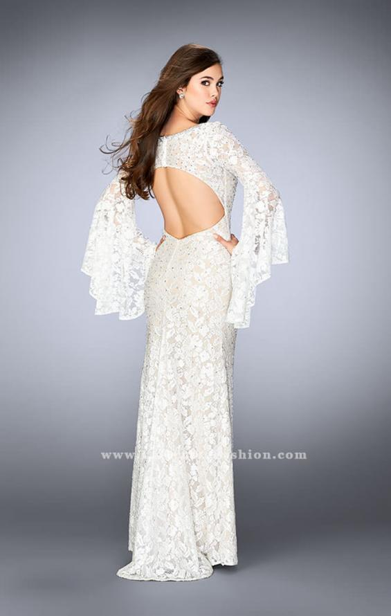 Picture of: Lace Bell Sleeve Dress with Sweetheart Neckline, Style: 24249, Back Picture