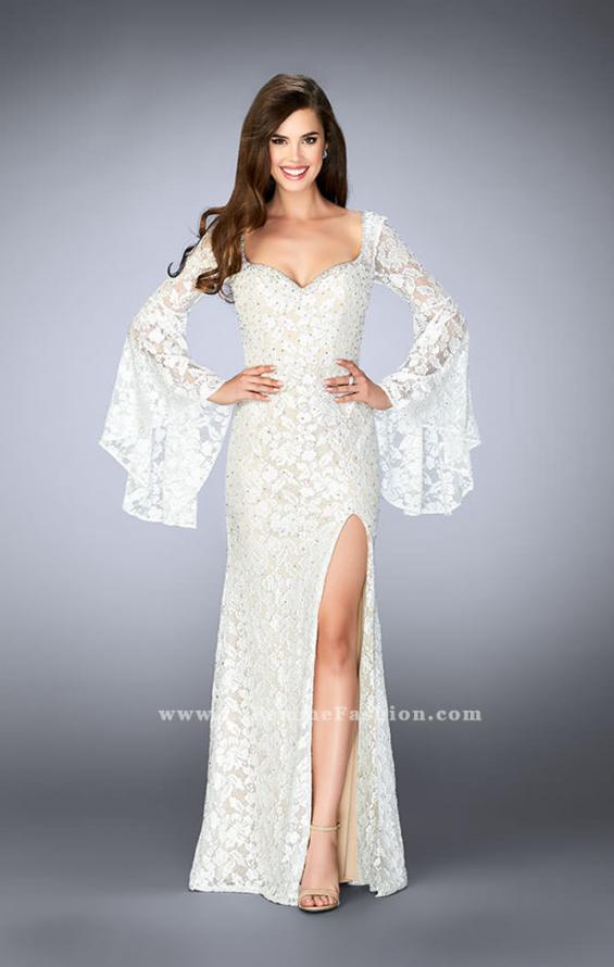 Picture of: Lace Bell Sleeve Dress with Sweetheart Neckline, Style: 24249, Detail Picture 1