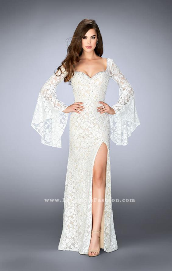 Picture of: Lace Bell Sleeve Dress with Sweetheart Neckline, Style: 24249, Detail Picture 2