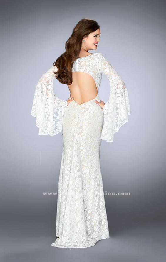 Picture of: Lace Bell Sleeve Dress with Sweetheart Neckline, Style: 24249, Detail Picture 3