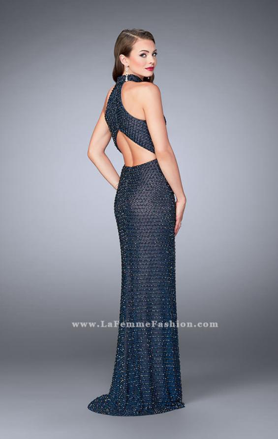 Picture of: Long Prom Gown with Beading and Racer back, Style: 24258, Back Picture