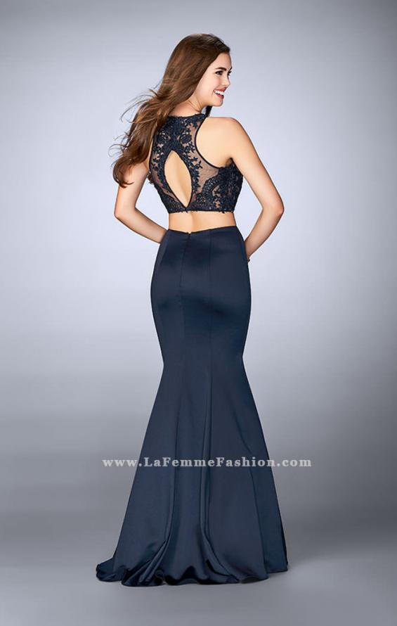 Picture of: Long Two Piece Prom Dress with Lace and Pockets, Style: 24265, Back Picture