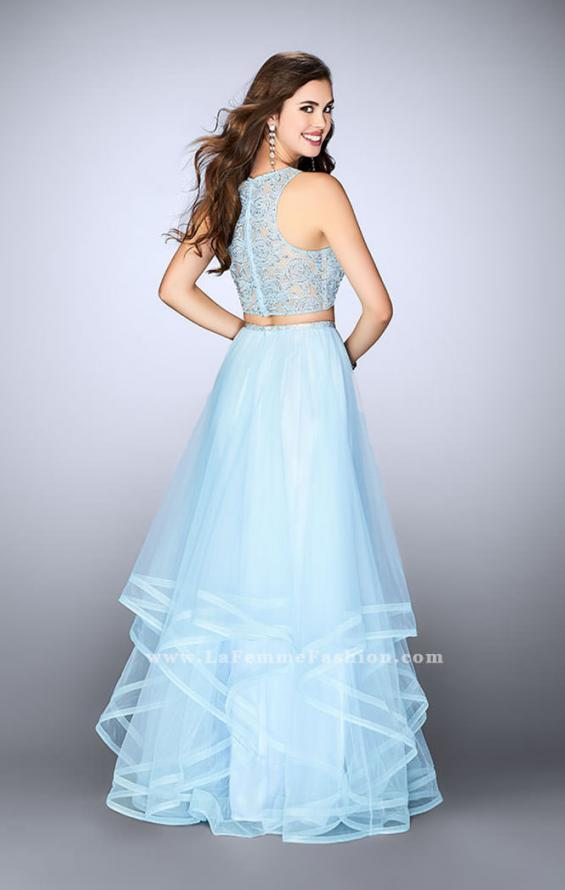 Picture of: Long Two Piece A-line Dress with Tiered Tulle Skirt, Style: 24268, Back Picture