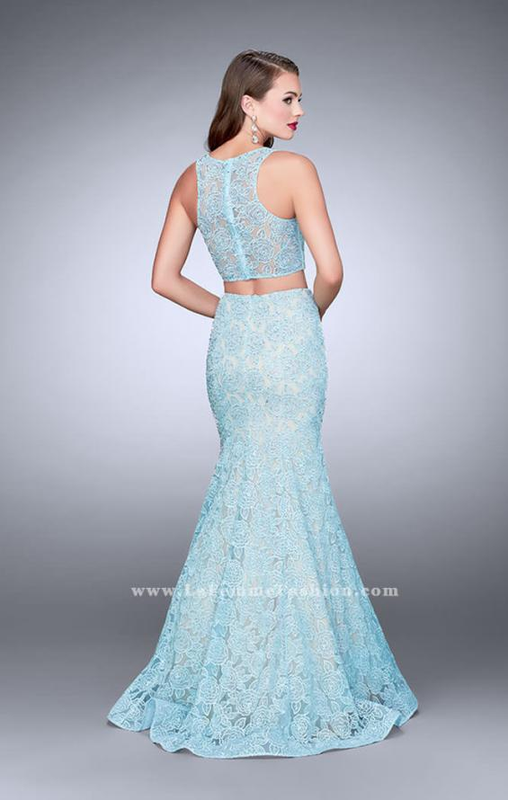Picture of: Two Piece Lace Prom Dress with Mermaid Skirt, Style: 24269, Back Picture