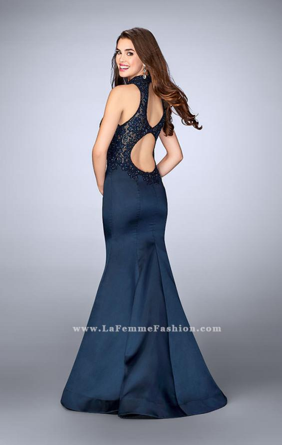 Picture of: Long Lace Mermaid Dress with Sheer Back, Style: 24271, Back Picture