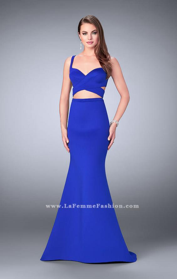 Picture of: Faux Two Piece Neoprene Dress with Mermaid Skirt, Style: 24288, Main Picture