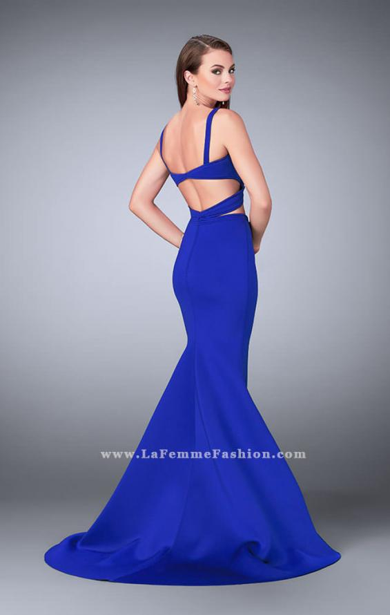 Picture of: Faux Two Piece Neoprene Dress with Mermaid Skirt, Style: 24288, Back Picture