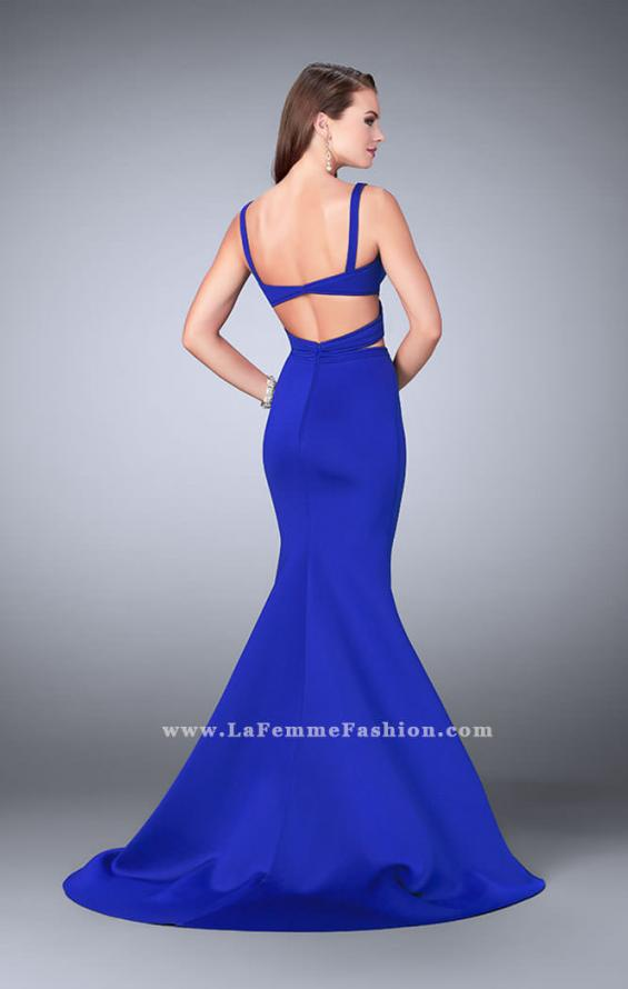 Picture of: Faux Two Piece Neoprene Dress with Mermaid Skirt, Style: 24288, Detail Picture 1